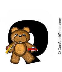 Alphabet Teddy Driving Cars Q