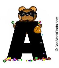 Alphabet Teddy Halloween Treats A