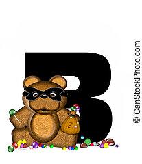 Alphabet Teddy Halloween Treats B