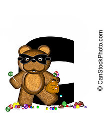 Alphabet Teddy Halloween Treats C