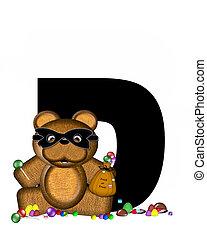 Alphabet Teddy Halloween Treats D