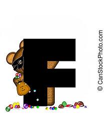 Alphabet Teddy Halloween Treats F