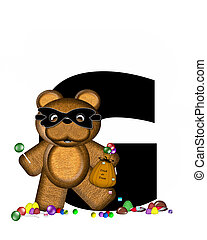 Alphabet Teddy Halloween Treats G