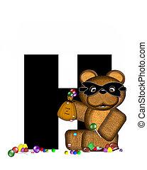 Alphabet Teddy Halloween Treats H