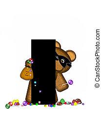 Alphabet Teddy Halloween Treats I