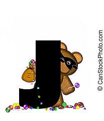 Alphabet Teddy Halloween Treats J