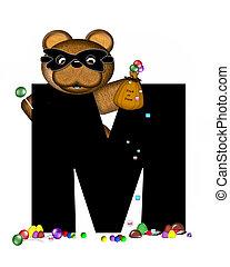 Alphabet Teddy Halloween Treats M