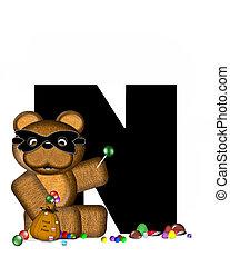 Alphabet Teddy Halloween Treats N