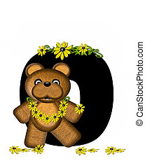 Alphabet Teddy Making Daisy Chain O