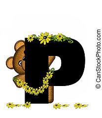 Alphabet Teddy Making Daisy Chain P