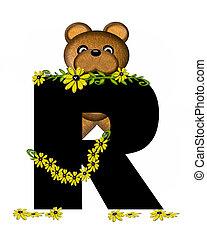 Alphabet Teddy Making Daisy Chain R