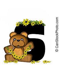 Alphabet Teddy Making Daisy Chain S