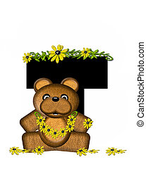 Alphabet Teddy Making Daisy Chain T