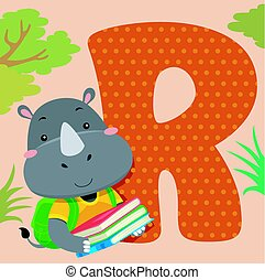Alphabet Tile Rhinoceros Books