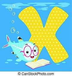Alphabet Tile X-ray Fish Read