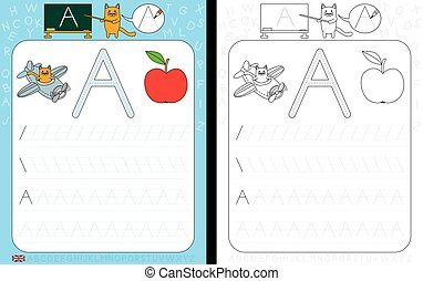 Alphabet Tracing Worksheet - Worksheet for practicing letter...
