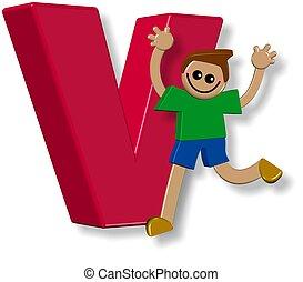 Alphabet V Boy