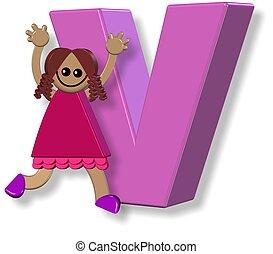 Alphabet V Girl