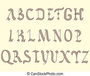 Alphabet Vatican eighth century