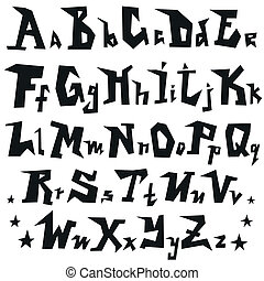 Alphabet , Font - vector illustration in graphic style
