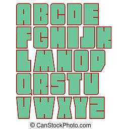 Alphabet. Vector illustration.