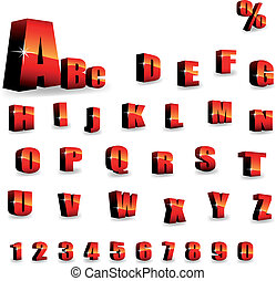 alphabet, vektor