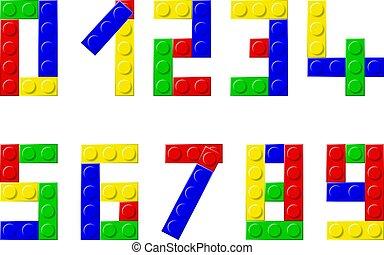 blocks - alphabet with plastic blocks