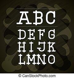 alphabet written on chalk board design