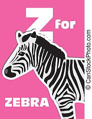 alphabet, zebra, z, tier