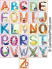 Alphabet,CMYK - Alphabet with words