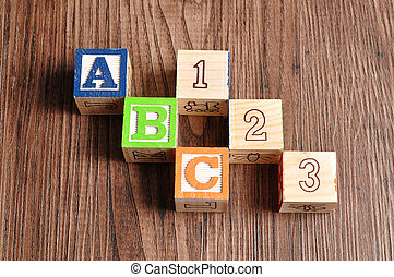Alphabeth blocks ABC 123