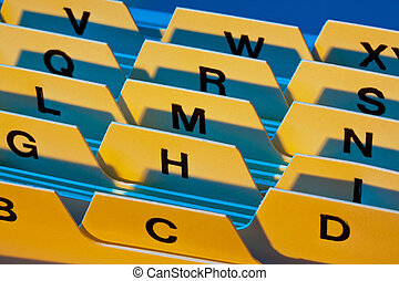 alphabetical index