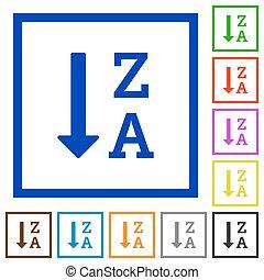 alphabetically, descendendo, mandado, lista, apartamento, formulou, ícones