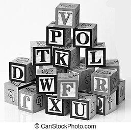 alphabets children blocks