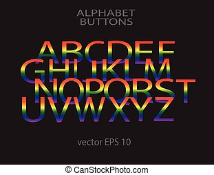 Alphabets white