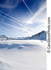 alpi, in, inverno