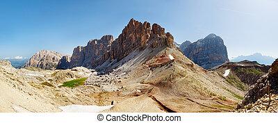 alpi, montagne, bello, -, italiano, dolomiti, vista