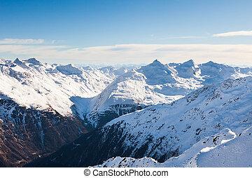 alpi, montagne,  snowcapped,  otztal