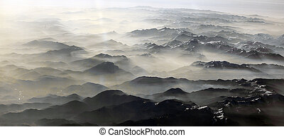 alpi, montagne, vista