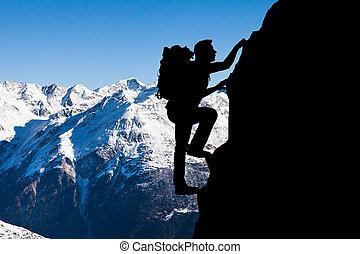 alpi, ricorso, sci, paesaggio inverno