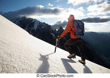 alpin bergsbestigare