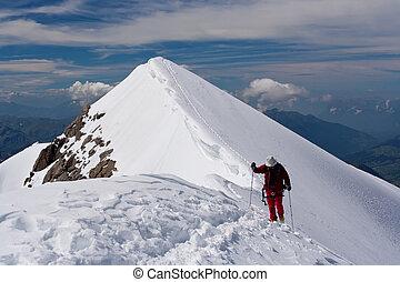 alpin klättrande