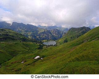 alpin lake Seealpsee in Bavaria