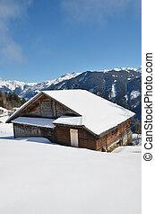 alpin, landskap, braunwald, schweiz