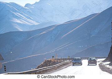 alpin motorväg, in, iranier, område