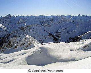 alpin, winter