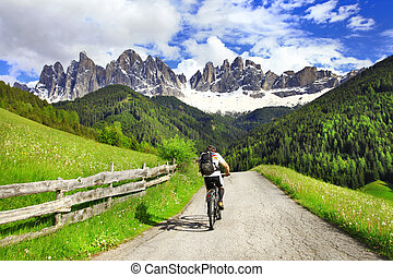 Alpine activities - beautiful nature of Dolomites, north of...