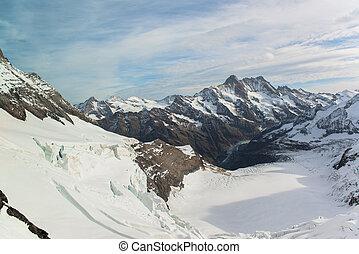 mountain landscape at Jungfraujoch
