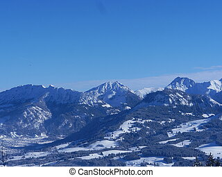 Alpine Alps mountain landscape