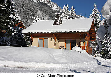 Alpine cabin - Traditional alpine cabin in the mountains of ...